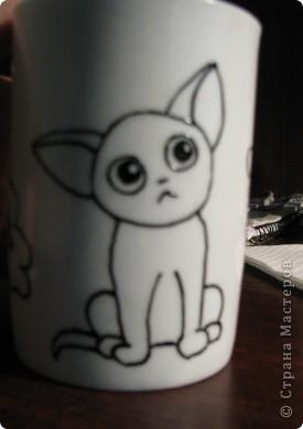 Обещанный МК) Делаем чашку с мечтательным котенком. Не судите строго, мой первый опыт создания МК  фото 6