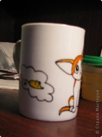 Обещанный МК) Делаем чашку с мечтательным котенком. Не судите строго, мой первый опыт создания МК  фото 7