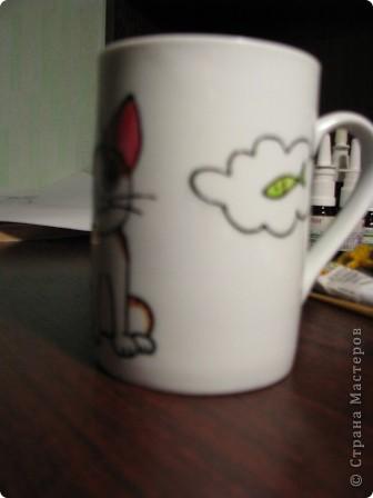 Обещанный МК) Делаем чашку с мечтательным котенком. Не судите строго, мой первый опыт создания МК  фото 9