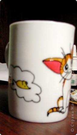 Обещанный МК) Делаем чашку с мечтательным котенком. Не судите строго, мой первый опыт создания МК  фото 10