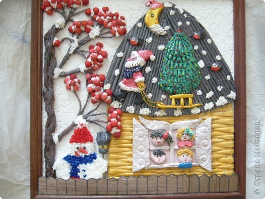 Картины на новогоднюю тему своими руками