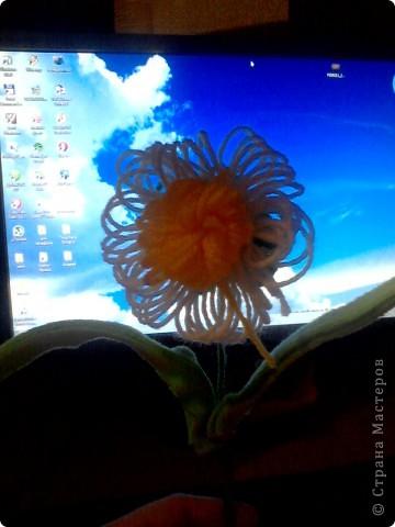 Цветы из пряжи! фото 1