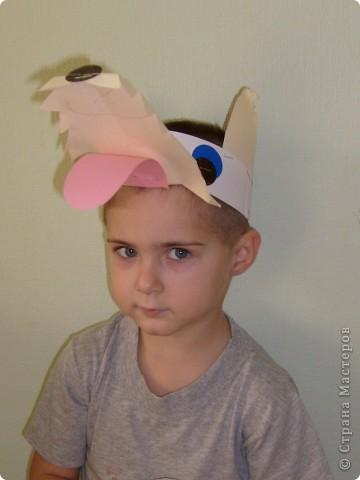 После посещения театра моего сына Егора прорвало на домашние выступления, а меня на изготовление масок. фото 5