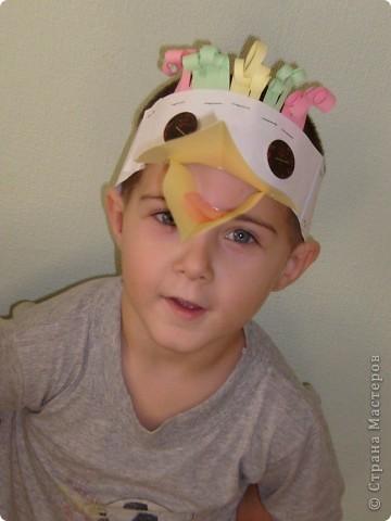 После посещения театра моего сына Егора прорвало на домашние выступления, а меня на изготовление масок. фото 6