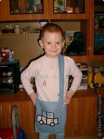 Для сынулиных машинок сшила ему сумочку.Никита был в восторге,целый день ходил с ней,не расставался.  фото 1