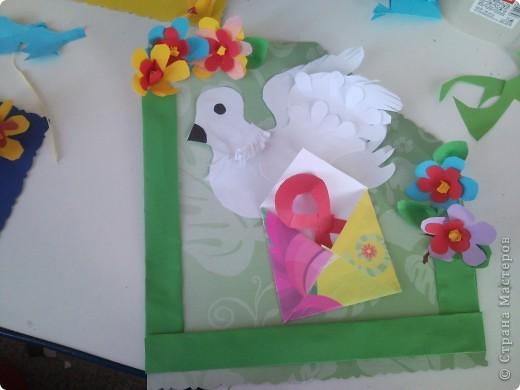Петушок,петушок,шелкова головушка..(первый петушок-пластилин,второй аппликация,работали по шаблону) фото 3