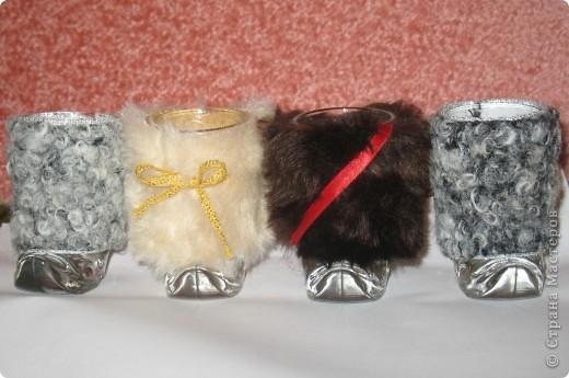 """Подарочные стопки """"Казачки"""" - оригинальный подарок был сделан друзьям, которые уехали на заработки в Западную Сибирь. Там пить напитки холодно, вот и придумали стопкам разные шубки."""