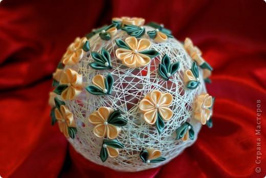 Вот такой получился у меня шар интерьерный для мамы в спальню! фото 2
