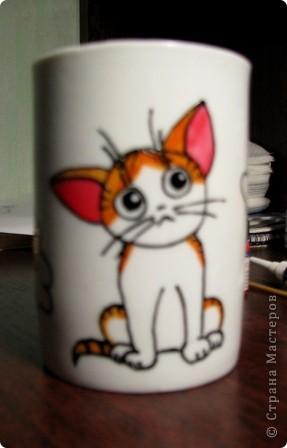 Обещанный МК) Делаем чашку с мечтательным котенком. Не судите строго, мой первый опыт создания МК  фото 1