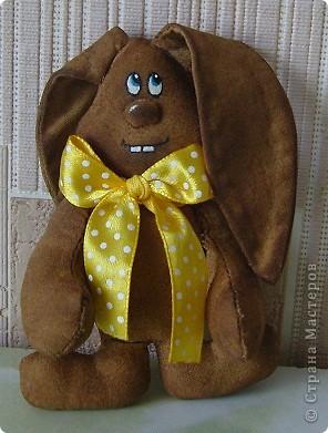 Кофейный кролик Кося. Маленькая Кофейная игрушка- его рост около 10 см фото 1