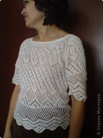 Вязаная блузочка