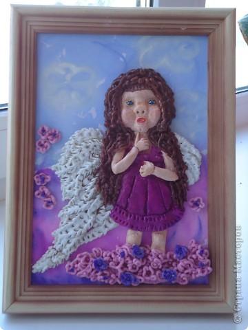 Ангелок-девочка (первая картина из соленого теста)