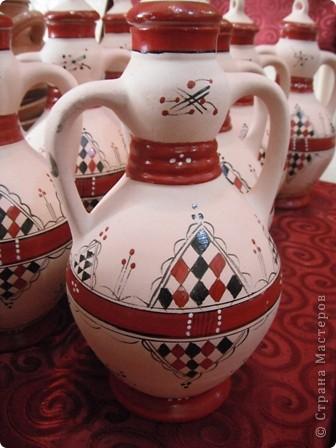 """Сувенирчики сделаны в традиционном алжирском стиле,Глиняная основа посыпанная песком из Сахары и с камнем который здесь называют """"Розы песчаные"""" и деревце -пальма фото 6"""