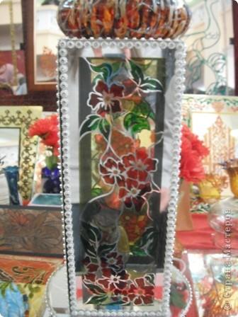 """Сувенирчики сделаны в традиционном алжирском стиле,Глиняная основа посыпанная песком из Сахары и с камнем который здесь называют """"Розы песчаные"""" и деревце -пальма фото 8"""