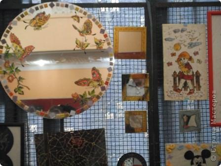 """Сувенирчики сделаны в традиционном алжирском стиле,Глиняная основа посыпанная песком из Сахары и с камнем который здесь называют """"Розы песчаные"""" и деревце -пальма фото 9"""