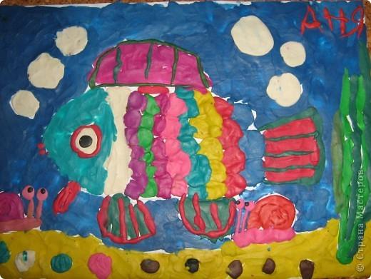 Пластилиновая рыбка фото 1