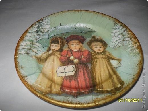 Моя самая первая тарелка.... глядя на ваши работы понимаю, что не очень удачная... фото 1