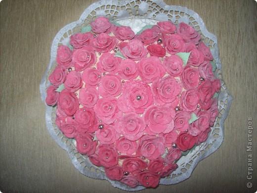 Этот тортик был сделан в подарок. Он двойной т.к. повода было два...годовщина свадьбы и рождение первого малыша. фото 6