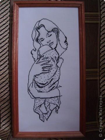 Вышивка крестом Мать и дитё Канва.