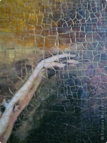 """Однажды я увидела МК как делать """"картину с чердака"""". http://www.liveinternet.ru/users/elenapoli/post135904653/ И вот наконец решила попробовать сделать свою картину.Конечно я не все делала так как было описано.  фото 4"""