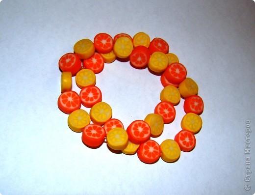 Цитрусовые бусины из пластики фото 2