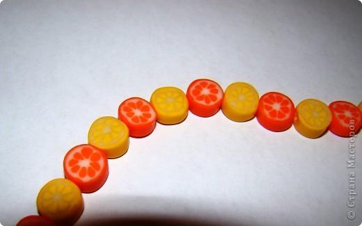 Цитрусовые бусины из пластики фото 3