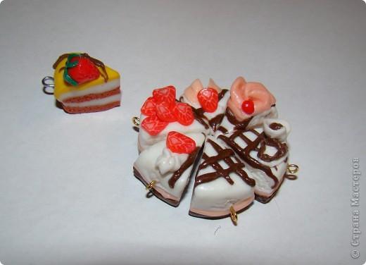 Тортик-брелок из пластики фото 2