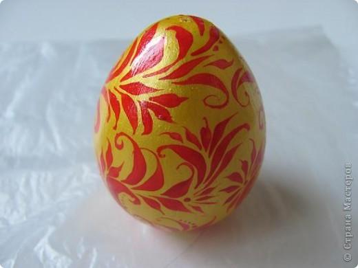 Яйцо под хохлому фото 4