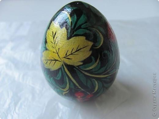 Яйцо под хохлому фото 3