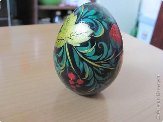 Яйцо под хохлому фото 1