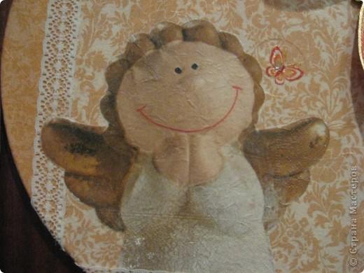 Испытываю трепетное отношение к ангелочкам (у меня их целая коллекция, но в технике декупаж ещё не было. А теперь есть :))) фото 3