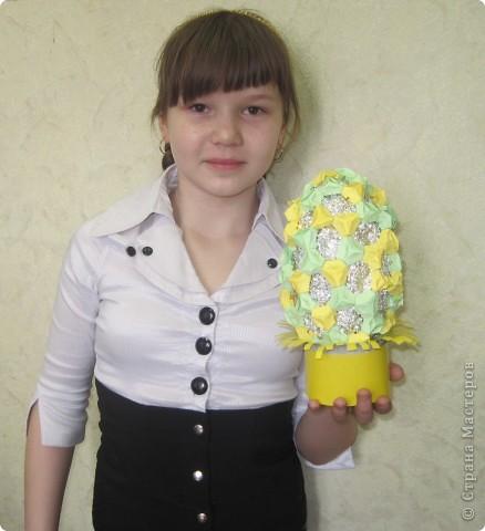 Хочу показать пасхальные яйца в технике модульного китайского оригами. Эти яйца сделал Саша Павлов. фото 6