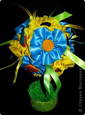 Давно хотела сделать дерево с цветочками из ткани. Вот что получилось! фото 3