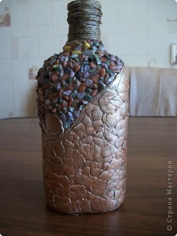 Моя первая бутылка.Яичная скорлупа,камешки фото 1