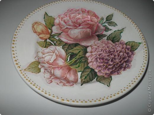 Моя самая первая тарелка.... глядя на ваши работы понимаю, что не очень удачная... фото 2