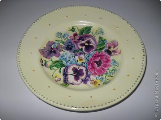 Моя самая первая тарелка.... глядя на ваши работы понимаю, что не очень удачная... фото 3