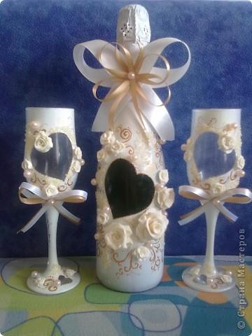 Заказ на свадьбу...первая работа с пластикой,как говорится-глаза боятся,а руки делают!! фото 1