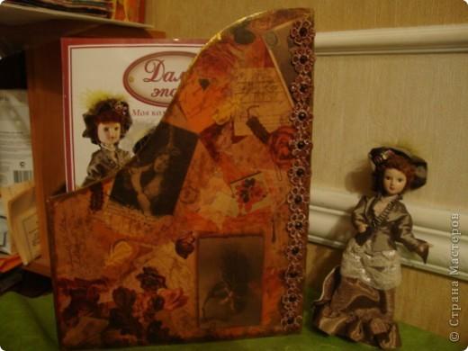 """Шкатулка """"Восточная"""".Использовала салфетки,контуры,лак.В подарок сестре-она увлеклась собиранием фигурок слонов. фото 5"""