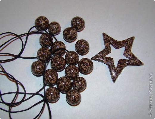 Леопардовые бусины из пластики фото 2