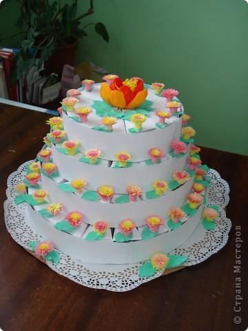 """Такой тортик мои ученики """"испекли"""" ко Дню рождения Директора школы. фото 1"""