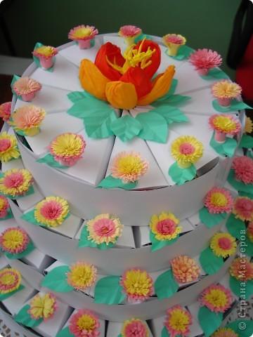 """Такой тортик мои ученики """"испекли"""" ко Дню рождения Директора школы. фото 2"""