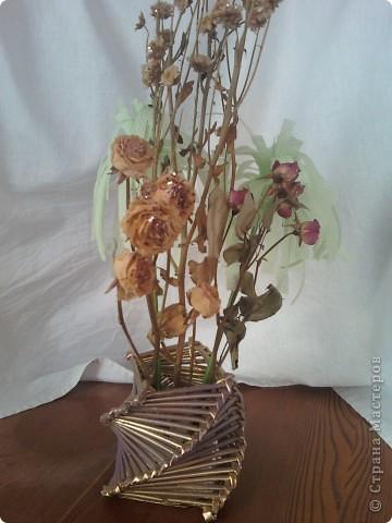 Флористическая композиция . Калы  из пластики. фото 2