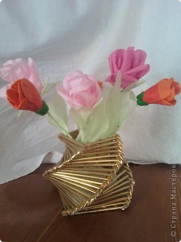 Флористическая композиция . Калы  из пластики. фото 3