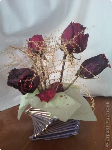 Флористическая композиция . Калы  из пластики. фото 4