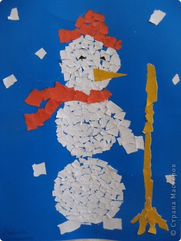 Снеговик. Ученица 1 класса