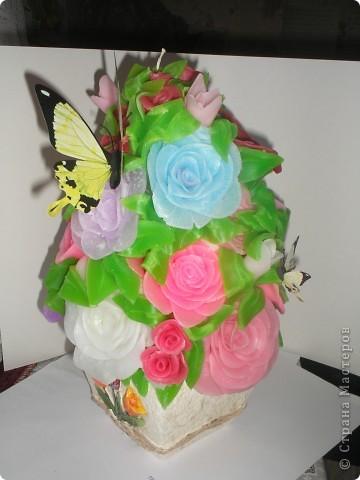 Свеча голубые розы) фото 2