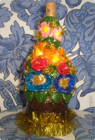 Бутылочка в цветах фото 1