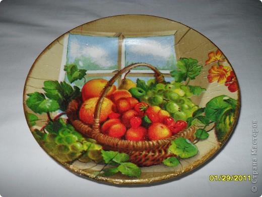 Моя самая первая тарелка.... глядя на ваши работы понимаю, что не очень удачная... фото 4