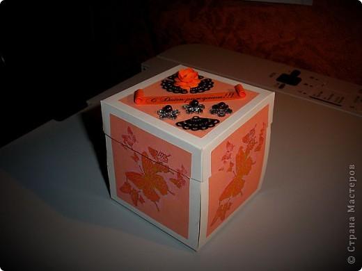 Вот такая коробочка-открытка-сюрприз у меня получилась  фото 1
