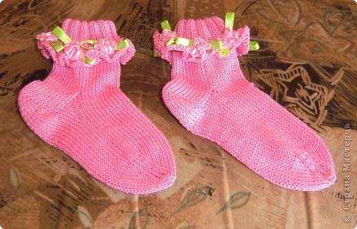носочки с розочками для девочек.  фото 1